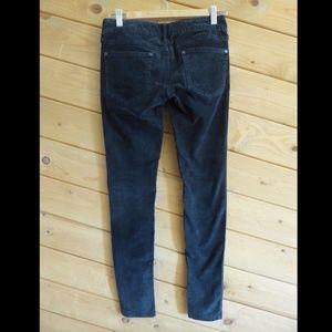 Free People Black Blue Stitch Corduroy Jeans Pant